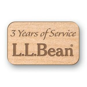 "Rectangle Wood Lapel Pins (0.75""x1.25"")"
