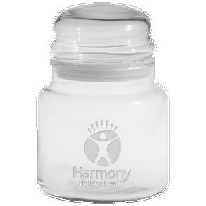 16 Oz. Apothecary Jar with Dome Lid - Etched